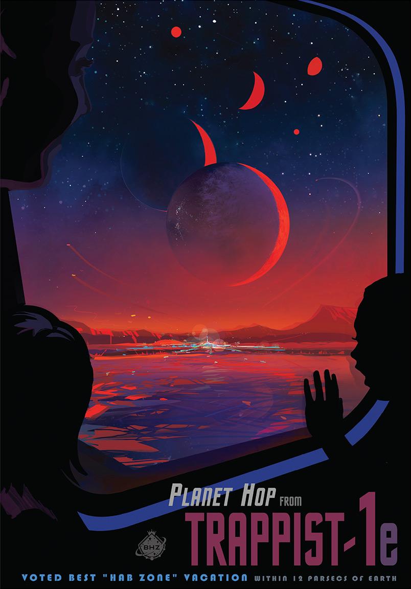Представление художника, как выглядят планеты